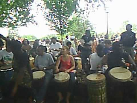 Malcolm X Park Drum Circle and Dancers 6 May 12 2