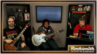 """This week, the team plays all four tracks from the Alabama Shakes song pack, including """"Hold On,"""" """"Don't Wanna Fight,"""" """"Always Alright,"""" and """"Gimme All Your Love."""" Additionally, the team offer some history on how the different guitar paths came into their current form. -- Watch live at https://www.twitch.tv/rocksmithgame"""