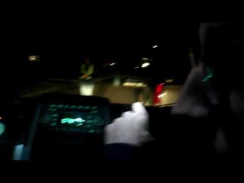 Sin Bin driving scene at night