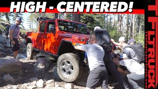 Jeep Gladiator vs Rubicon Trail: Can You Really Wheel A Long TRUCK Up America's Hardest Rocky Trail? by The Fast Lane Truck