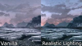 Skyrim Mods - Realistic Lighting Timelapse Comparison
