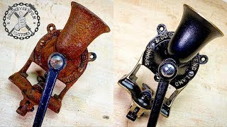 Unique Antique Coffee Grinder RESTORATION (using MC-51)