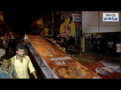 Kabali-Ticket-Controversy-Angry-Rajni-Fans-Removes-Banner-Tamil-The-Hindu