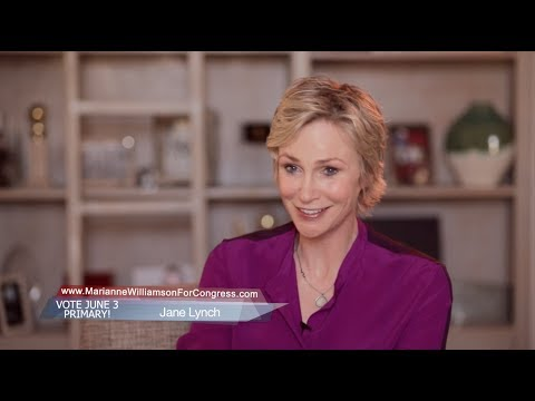 Jane Lynch Endorses Marianne Williamson for Congress