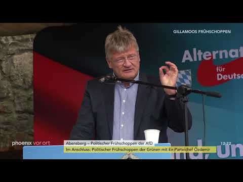 Jörg Meuthen beim politischen Frühschoppen der AfD in A ...