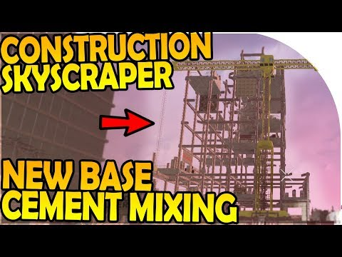 CONSTRUCTION SKYSCRAPER LOOT + CEMENT MIXING - 7 Days to Die Alpha 16 Gameplay Part 30 (Season 2)