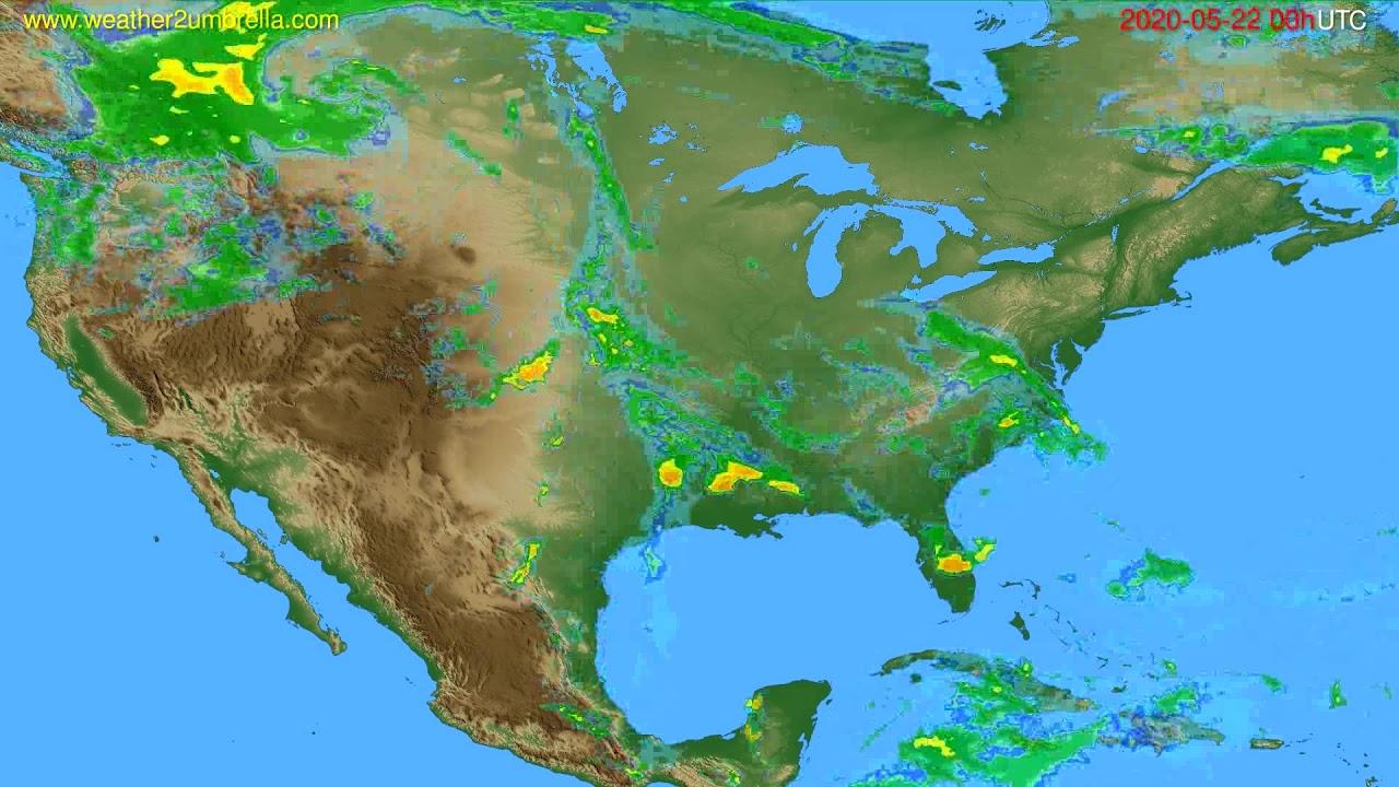 Radar forecast USA & Canada // modelrun: 12h UTC 2020-05-21