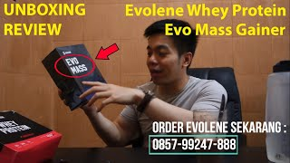 Evolene Whey Protein, Evo Mass Evolene Gainer Unboxing Review Komposisi+Kandungan. Distributor Resmi