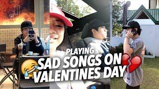 Video SAD SONGS ON VALENTINES DAY (Teasing Single Bro) | Ranz and Niana MP3, 3GP, MP4, WEBM, AVI, FLV September 2018