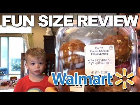 Fun Size Review: Walmart's Carrot Cream Cheese Filled Muffins