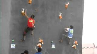 Jiangyin China  city pictures gallery : World record in speed climbing on Jiangyin Rock Master 2011 (6.18 seconds)