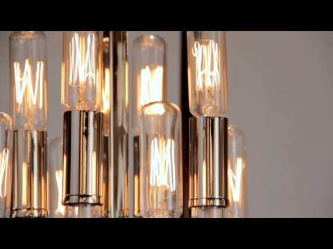 Video for Waterloo Polished Nickel Eight-Light Pendant