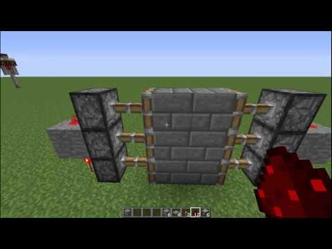 Minecraft Tutorials | How to make an Automatic 3×2 Piston Door