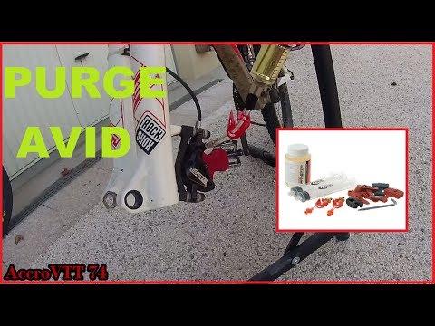 Purge frein AVID elixir TUTO/ liquide DOT/ kit de purge