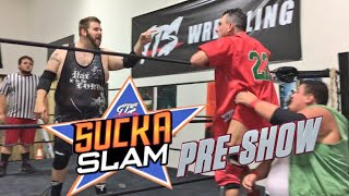 WATCH GTS SUCKASLAM PPV HERE AT 5:45PM ESThttps://youtu.be/a0us5iqkoSYHOW TO PURCHASE ON IPHONE/IPAD:1. Go to SAFARI app and load up youtube.com2. click tab to request DESKTOP site3. click on this video and you will see the prompt to payGO BACKSTAGE WITH GTS HERE! https://www.patreon.com/GrimstoyshowCongratulations youve found this crazy GTS suckaslam preshow championship challenge gone wrong with epic wwe finishing moves and more in this professional wrestling ppv sports entertainment video! Thumbnail logo by Danny Halpin and James RomanoADDITIONAL CONTEXT Please rate comment and subscribe to this channel for the most fun pro wrestling channel on youtube! This is not real. Its fictional comedic fantasy role play professional wrestling wwe style sports entertainment with fictional characters set in a fiction based story performing in an artistic nature for creative expression. Dont miss daily episodes from the greatest toy collector of all time, GRIM!OUR VLOG CHANNEL: http://www.youtube.com/user/kidlockdmhOFFICIAL WEBSITE: http://grimstoyshow.com/GET GTS ROSTER T-SHIRTS HERE: http://www.prowrestlingtees.com/related/grims-toy-show.htmlFOLLOW US ON TWITTER https://twitter.com/GrimsToyShow Grims Toy Show does NOT have a FACEBOOK GRIM'S fan run INSTAGRAM account @GTSAMABASSADOR