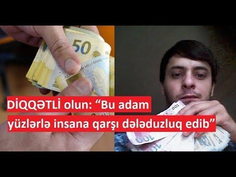 """DİQQƏTLİ OLUN: """"Bu adam yüzlərlə insana qarşı dələduzluq edib"""" (видео)"""