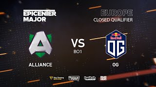 Alliance vs OG, EPICENTER Major 2019 EU Closed Quals , bo1 [Mila]