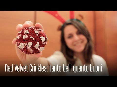red velvet crinkles - croccanti fuori e morbidi dentro