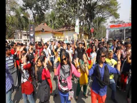 sylhet - Agricultural University Sylhet do their version of a flash mob to the official ICC WT20 tournament song, Char Chokka Hoi Hoi. The video with the most views w...