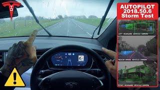 Tesla Autopilot in Heavy Storm Winds & Rain - Will It Work? by Pokemon Cards
