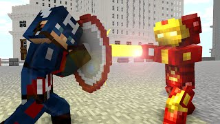 Video Ironman vs Captain America - Craftronix Minecraft Animation download in MP3, 3GP, MP4, WEBM, AVI, FLV January 2017
