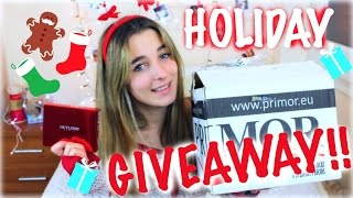 Hello guys it's Ada and today's video is a Holiday Giveaway for you guys because you are so kind with me and I want just say you Thankyou! Giveaway is intern...