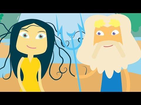 Athena and Poseidon | Greek Mythology Stories |  Ancient Greek Gods and Goddesses