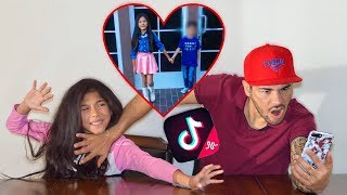 REACTING TO MY 9 YEAR OLD DAUGHTER'S TIK TOKS! *Gone Wrong* | Familia Diamond