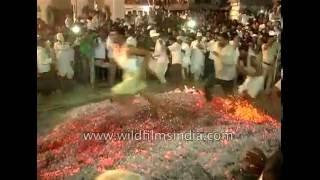 Only in India - Walking barefoot on fire!