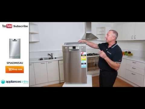SPU63M05AU Bosch slimline dishwasher reviewed by expert - Appliances Online