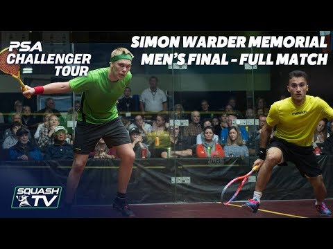 Squash: Khan v Mustonen - Men's Final - Full Match - Simon Warder Memorial 2018