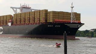 MSC ZOE - Maiden Call to Port Of Hamburg / First Visit
