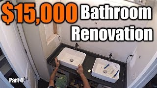 $15,000 Modern Bathroom Renovation 4 | THE HANDYMAN |