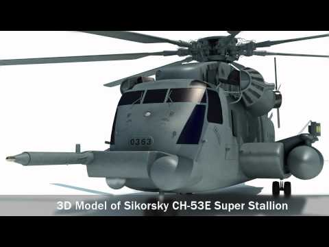3D mode of Sikorsky CH-53E Super...