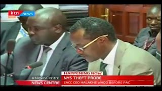 Happening Now: EACC Boss Halakhe Waqo being interviewed by NYS Theft Probe