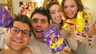 Video ZALFIE & JANYA EASTER EGG HUNT MP3, 3GP, MP4, WEBM, AVI, FLV Oktober 2018
