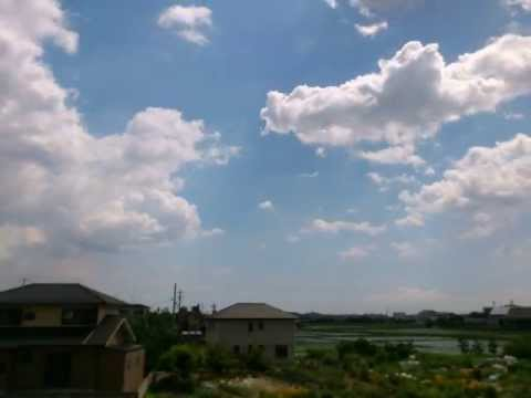 【動画フェス】 Clouds In The Sky Time Lapse Video -Big Cumulus- 積雲 (微速度撮影動画)