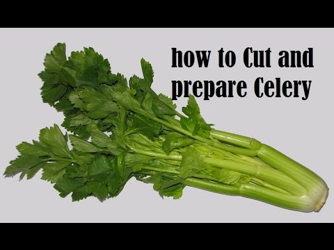 Paring, Washing And Cutting Celery | French Cooking Techniques