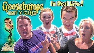 Download Video Goosebumps Night of Scares in Real Life! Does Slappy Get Us?   DavidsTV MP3 3GP MP4