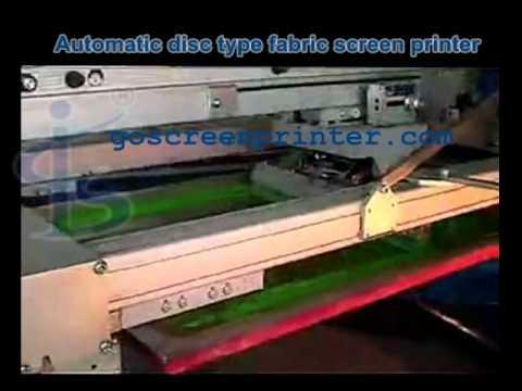 automatic disc type fabric screen printer