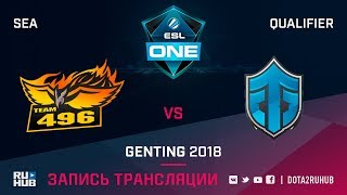 496Vikings vs Entity Gaming, ESL One Genting SEA Qualifier, game 1 [Mortalles]