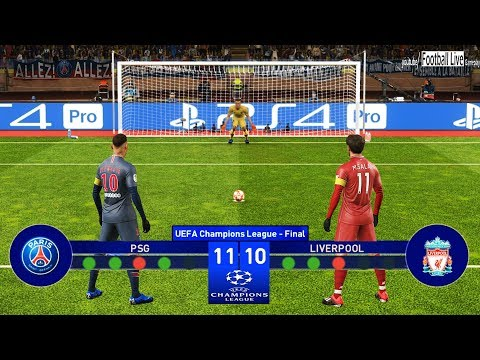 PES 2019 | PSG vs Liverpool | Final UEFA Champions League (UCL) | Penalty Shootout