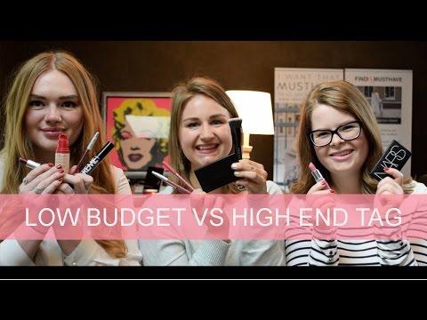 Low budget vs. High end make-up TAG | GirlsceneNL