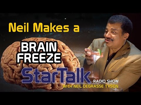 """neil - Do astronomy and alcohol mix? Find out when Neil deGrasse Tyson mixes up a """"Brain Freeze"""" at the bar at BAM with Brian the Bartender. In addition to creating his signature """"Drink of the..."""