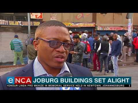 JHB building blaze leaves residents fleeing