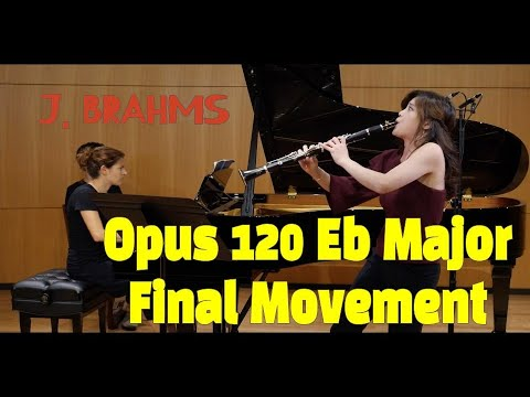 See video J. Brahms Clarinet Sonata in Eb - 3rd movement