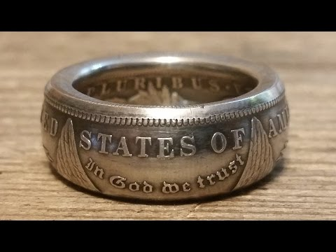 How to make double sided silver Morgan, Peace dollar coin rings - Tools revealed