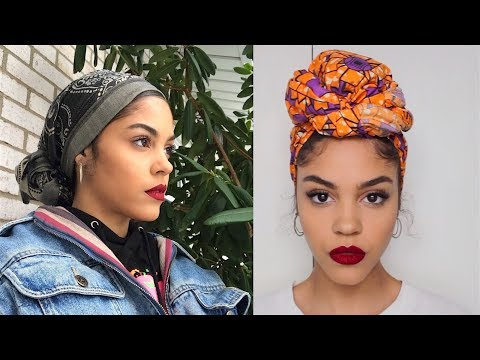 4 WAYS I TIE MY HEAD WRAPS SCARF / TURBANS