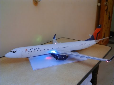 Delta 737-900 with LED LIGHTS paper model