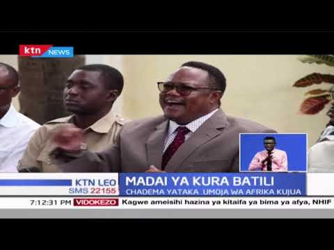 Tundu Lissu asema kwamba kura za Tanzania ni batili